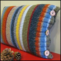 Pillow Made From An Old Sweater