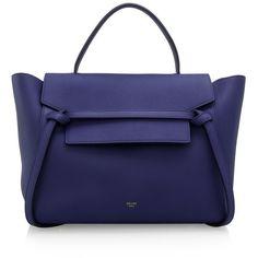 Pre-owned CELINE BELT SHOULDER (15 930 SEK) ❤ liked on Polyvore featuring bags, handbags, shoulder bags, blue, cowhide purse, blue purse, pre owned purses, shoulder strap purses and cowhide handbags