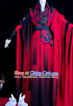 Chinese Red General Hanfu Cosplay Costumes Complete Set rental set traditional buy purchase on sale shop supplies supply sets equipemnt equipments Chinese Clothing Traditional, Traditional Fashion, Traditional Dresses, Oriental Fashion, Asian Fashion, Kimono Fashion, Kimono Outfit, Japanese Outfits, Kawaii Clothes