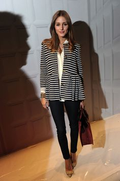 Stripes and pumps.