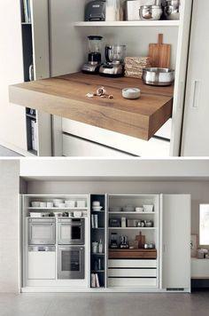 Design Idee Pull Out Küchenarbeitsplatten (10 Bilder) / / Ausziehbares  Zähler Sind Ideal Für