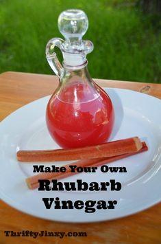 Homemade Rhubarb Vinegar Recipe - Use Up that Extra Rhubarb! - Thrifty Jinxy