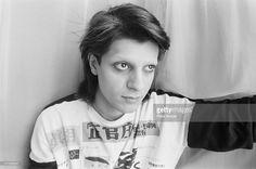 Bassist Mick Karn (1958 - 2011), of British pop group Japan, Toronto, January 1982.