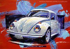 Volkswagen Type 1 Beetle Fine art print by por SpeedAndColors, $35.00