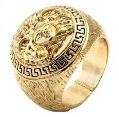Hip Hop style Medusa Ring.