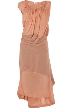 vivienne westwood gold label. draped cotton and silk-blend dress.