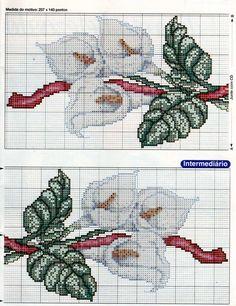 Cross stitch pattern, flower 2 of 2.