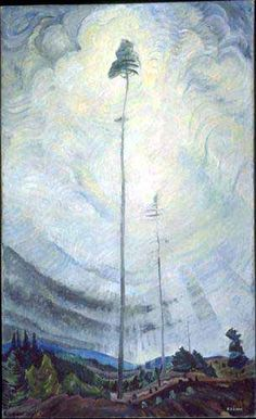 """""""Scorned as Timber, Beloved of the Sky"""" by Emily Carr, Oil on canvas. Collection of the Vancouver Art Gallery, Emily Carr Trust. Tom Thomson, Canadian Painters, Canadian Artists, Emily Carr Paintings, Group Of Seven Art, Vancouver Art Gallery, Art Prints For Sale, Wow Art, Impressionist Paintings"""