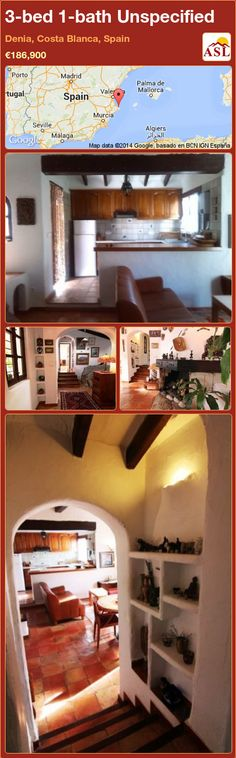 Unspecified for Sale in Denia, Costa Blanca, Spain with 3 bedrooms, 1 bathroom - A Spanish Life Living Room With Fireplace, Murcia, Kitchenette, Malaga, Beams, Costa, Terrace, Entrance, Spain