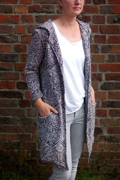 """Ebook Damen Cardigan """"JAKKE"""" by EvLi's-Needle Strick Cardigan, Crochet Woman, Schneider, Sweater Jacket, Mantel, Duster Coat, Sewing, My Style, Sweaters"""