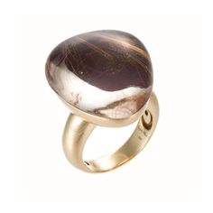 Roberto Coin Fantasia 18k Rutilated Quartz & Purple Mother-of-Pearl Cocktail Ring, Size 6.5