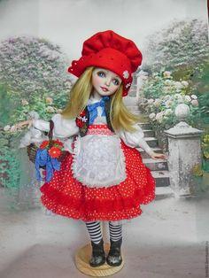 Купить Red riding Hood Красная шапочка - ярко-красный, кукла ручной работы, кукла