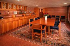Dining Room - William P. Boswell House / 8805 Camargo Club Drive, Indian Hill / 1961 / Usonian / Frank Lloyd Wright