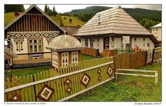 The 'Ciocaneshti' Village, in Suceava County, North of Romania, a Genuine Outdoors Museum, was designated Romania's Cultural Village in 2014 Storybook Homes, Famous Castles, Mountain Resort, Traditional House, Places To See, Beautiful Places, Around The Worlds, Culture, Country