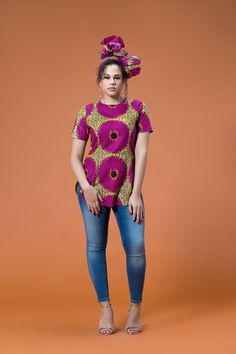 The Ubon Top is stunning in the Red African Print. It's comfy to wear and will make sure you stand out in a crowd African Print Shirt, African Print Fashion, Africa Fashion, African Fashion Dresses, Ankara Fashion, African Dress Patterns, African Fabric, African Blouses, African Shirts