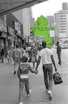 Ruh ro here comes reptar Follow @aidanlathamdaye on Instagram