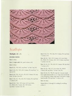 1000+ images about Patterns- knitting on Pinterest Lace knitting stitches, ...