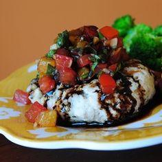 Mozzarella Stuffed Bruschetta Burgers with Balsamic Glaze recipe on Food52