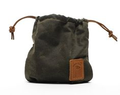 Golf Bag Pouch Waxed Canvas Golf Valuables Field Pouch in Olive Green personalized monogrammed Golf Gift Waxed Canvas Bag, Canvas Leather, Leather Pouch, Tan Leather, Golf Gifts For Men, Medium Sized Bags, Tartan Fabric, Star Gift, Embossed Logo