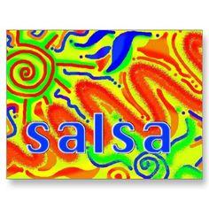 Salsa dance fun - postcard £1.10