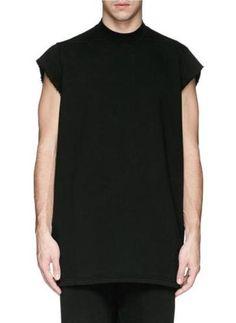 Oversize sleeveless sweatshirt #sweater #offduty #covetme #DRKSHDW BY RICK OWENS
