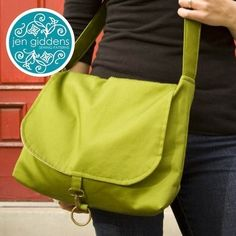 Classic messenger bag sewing pattern.