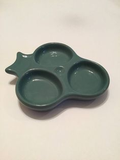 Vintage Hall Pottery Dish  Small Relish Tray Made in USA