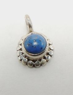 Sterling Silver Lapis Pendant Vintage by HeirloomSilver on Etsy, $15.00