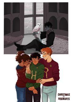 Golden trio Harry Ron hermione