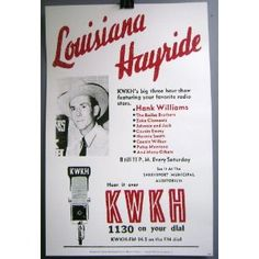 Louisiana Hayride show poster (featuring some vintage microphones!)