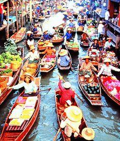 Taling Chan Floating Market,Bangkok,Thailand
