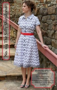 Serendipity Studio - 124- The Sally Dress.  LOVE this shirtdress!
