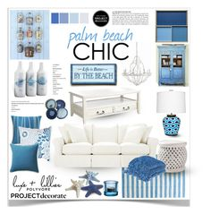 """Palm Beach Chic With Luxe and Lillies 3"" by jpetersen ❤ liked on Polyvore featuring interior, interiors, interior design, home, home decor, interior decorating, Stray Dog Designs, Durango, Baldwin and Jiti"