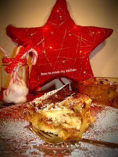 How To Meet My Kitchen: Χριστουγεννιάτικη πουτίγκα με panettone Waffles, Meet, Breakfast, Kitchen, Food, Breakfast Cafe, Cucina, Cooking, Essen