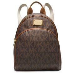 ce44a001022b MICHAEL Michael Kors Jet Set Travel Logo Small Backpack Coffee Backpack  Handbags, Mk Handbags,