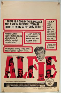 Alfie, US Window Card (14x22in), Original Vintage Movie poster 1966