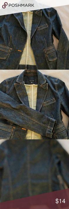 Limited dark denim blazer XS Limited Brand dark denim Blazer in excellent condition. Very stylish with nice pockets. Women's size extra small. Limited  Jackets & Coats Blazers