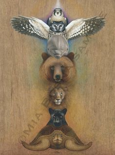 chakra animal totem the best example of what my next tattoo will be! Each animal the totem of my loved ones