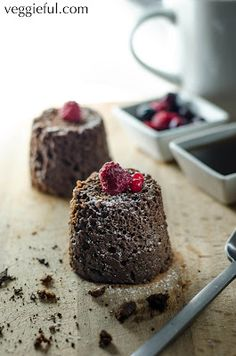 Two Minute Microwaveable Chocolate Muffins - quick and easy vegan dessert