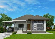 Plans This elevated 3 bedroom house design has 2 toilet and bath having a floor area of 162 sq. It can be built in a lot Bungalow Haus Design, Modern Bungalow House, Three Bedroom House Plan, Bedroom House Plans, Dream House Plans, Small House Plans, House Plans South Africa, Bungalow Floor Plans, Beautiful House Plans