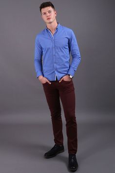 Reinvent your street style & office work clothing attire with this blue long sleeve button down shirt for men. When it comes to poor quality, a boring closet & an annoying fit, we feel your pain. Our men's apparel is perfect for those who enjoy looking classy while feeling powerful. Enjoy our large selection of guys simple trendy fashion wear for every day, weekend fun & business. Build your manly wardrobe easily with unique & preppy outfits. Buy now from Virgo Boutique! #mensfashionsmart Fashion Wear, Trendy Fashion, Mens Fashion, Preppy Outfits, Work Outfits, Virgo Men, Fashion And Beauty Tips, Work Casual, Weekend Fun