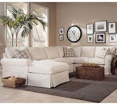 A sectional sofa may be the solution for a small and awkward den space.