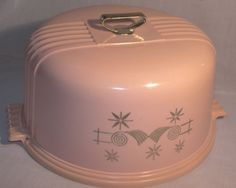 Vintage Lustro Ware Pink Cake Carrier....I must find one of these