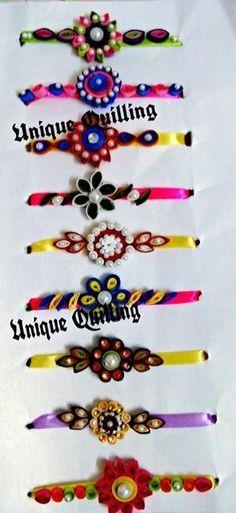 Rakhis Quilling Jewelry, Quilling Paper Craft, Paper Jewelry, Paper Crafts, Quilling Patterns, Quilling Designs, Hobbies And Crafts, Diy And Crafts, Quilling Rakhi