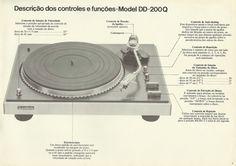 O manual do meu toca-discos Gradiente DD200Q.
