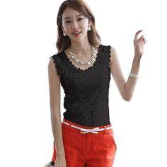 Zanzea Hot Sale 2017 New Summer Style Fashion Women Vest Casual Sleeveless O-Neck Lace Floral Tank Tops Slim Plus Size