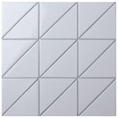 Merola Tile Tre Super Iso Glossy White in. x Porcelain Mosaic Tile, White/High Sheen