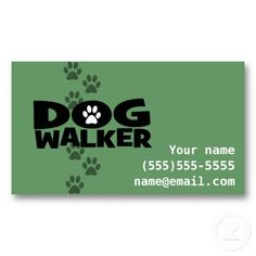 16 best dog walking business cards images on pinterest dog walking dog walker fully customizable business card colourmoves