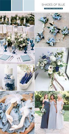 Blue Wedding Colour Theme, Winter Wedding Colors, Theme Color, Wedding Color Schemes, Colour Themes For Weddings, Winter Themed Wedding, Summer Wedding Themes, Wedding Colour Palettes, Baby Blue Wedding Theme