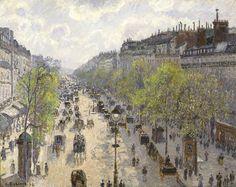 Camille Pissarro - Boulevard Montmartre, Spring (1897)